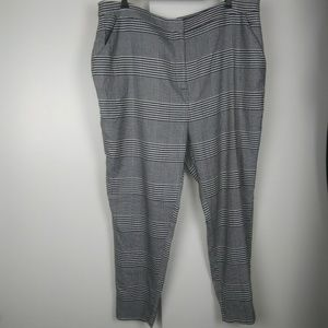 Forever21 + plaid high rise pants size 3x